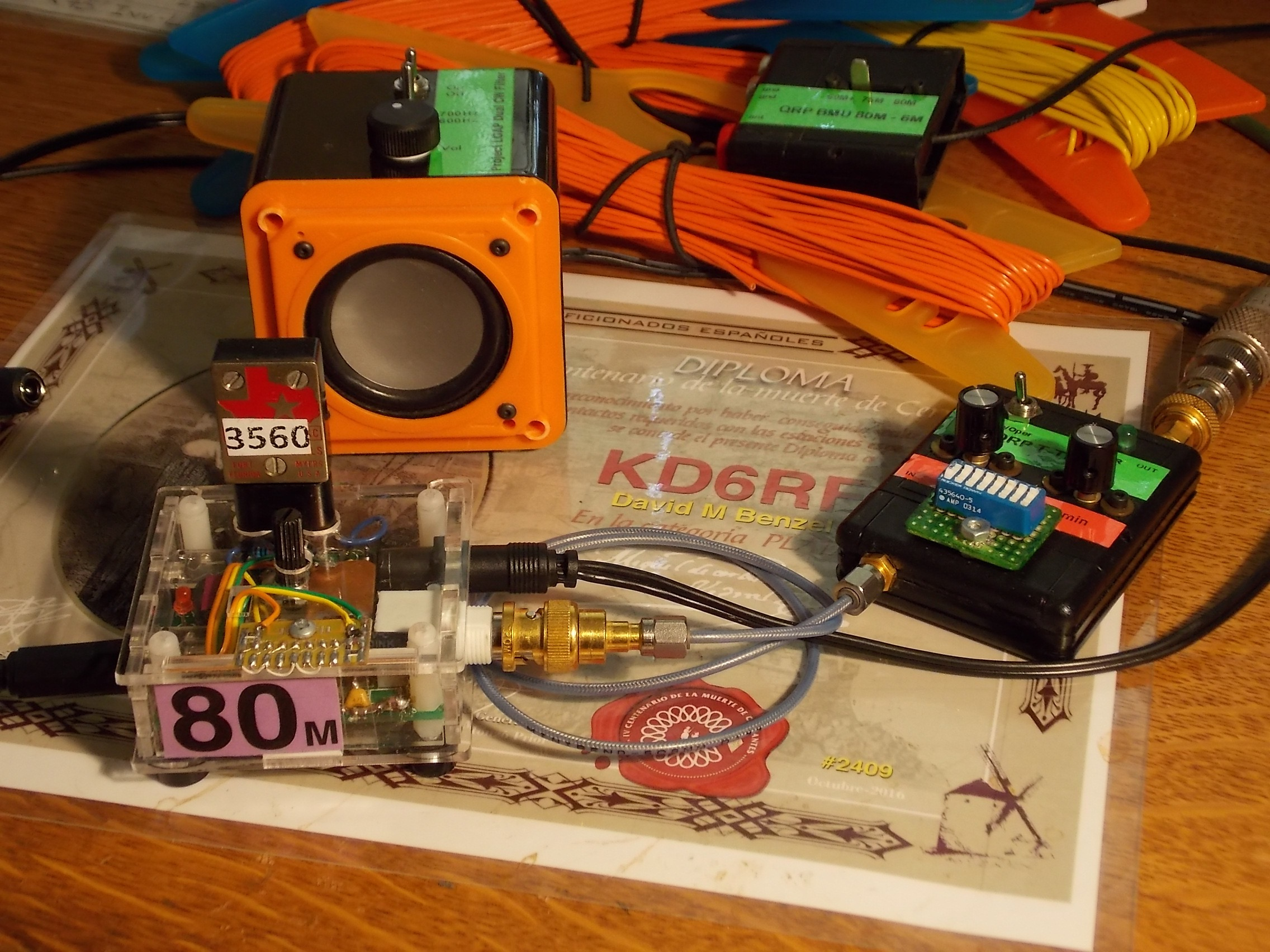 80M LOAP2 Pixie n CW Filter Spkr n T-Tuner n BMU