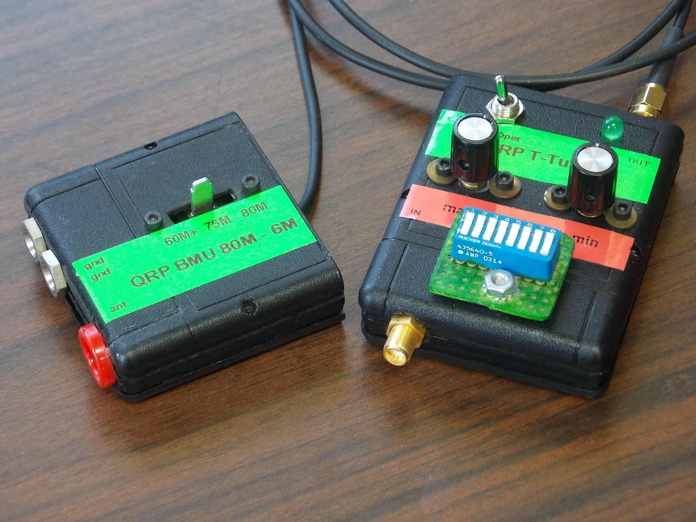 BMU and T-Tuner Top View QRP System